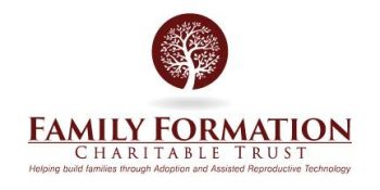 Family Formation is about helping by providing adoption grants