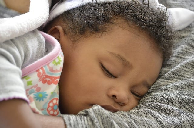 Minority Adopted Baby Sleeping